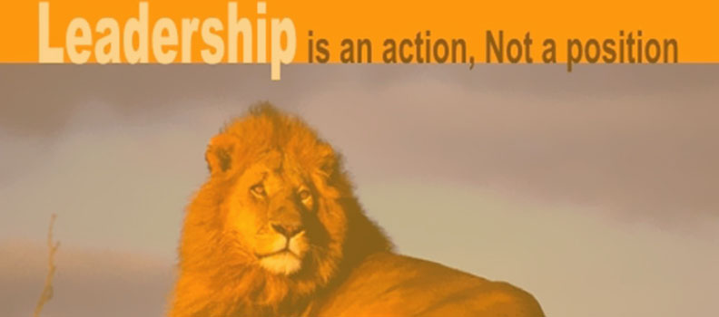 Leadership is an action