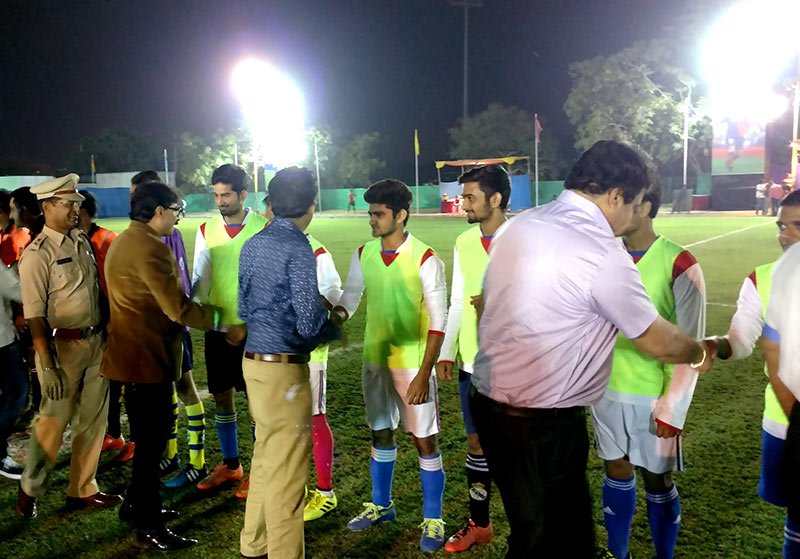 rajkot city police jyoti foot ball