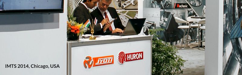 Jyoti Huron at IMTS 2014, Chicago, USA