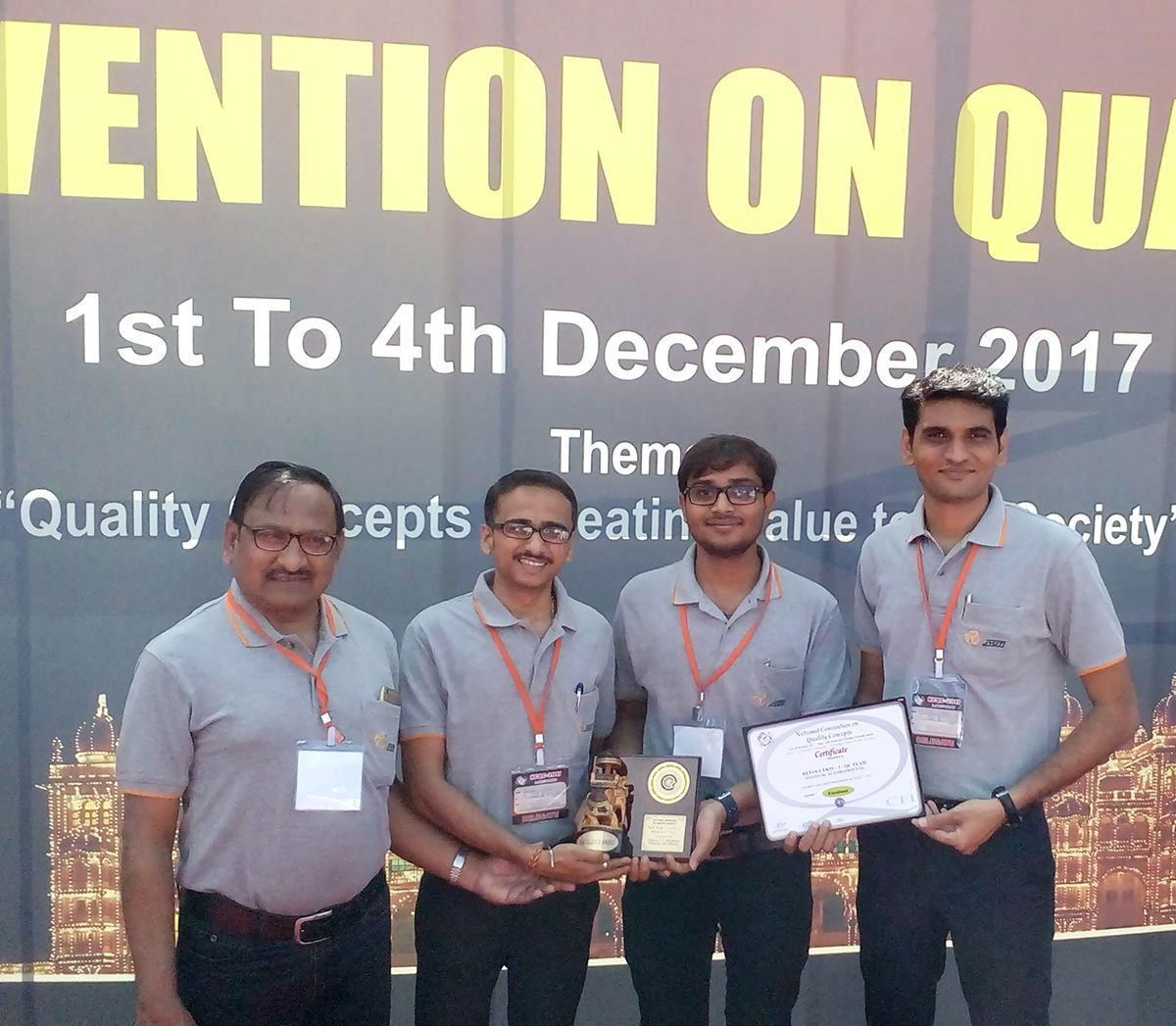 2nd-prize-at-national-convention-on-quality-concepts-held-at-Mysuru-karnataka-organized-by-quality-circle-forum-of-india