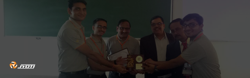 """2nd prize at national convention on quality concepts held at Mysuru, Karnataka. Organized by """"quality circle forum of India"""","""