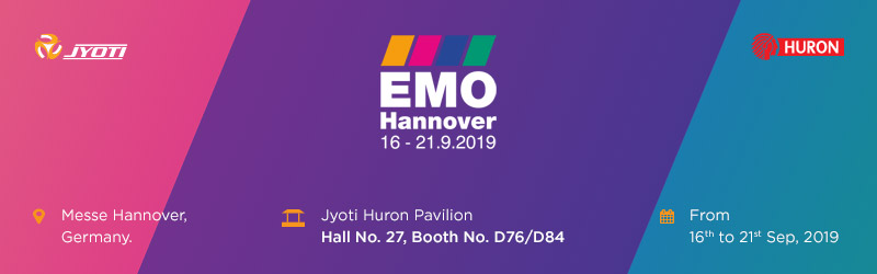 Invitation to visit us at Jyoti Huron Pavilion, EMO 2019.