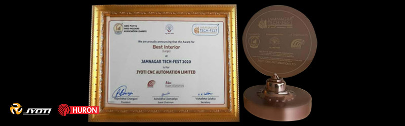"Jyoti Pavilion is awarded with ""The Best Interior Award"" at Jamnagar Tech-Fest"