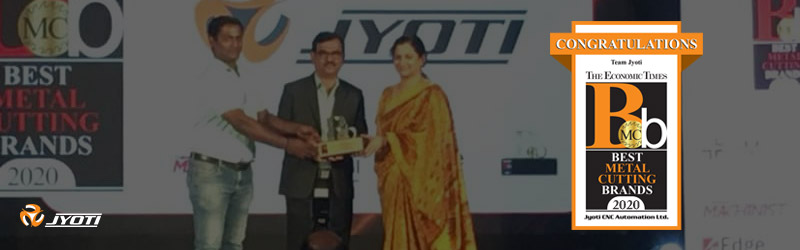"""The Best Metal Cutting Brand 2020"" An Award From The Economic Times, India"
